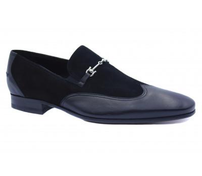 Туфли ROMIT кожаные черные 11086