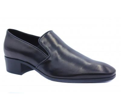 Демисезонные туфли ROMIT кожаные черные 15363