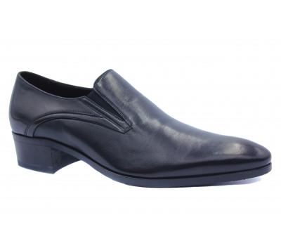 Демисезонные туфли ROMIT кожаные черные 15331