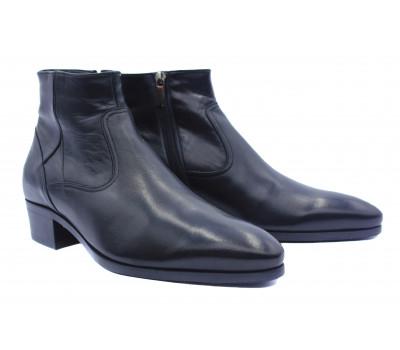 Зимние сапоги ROMIT кожаные черные 13254