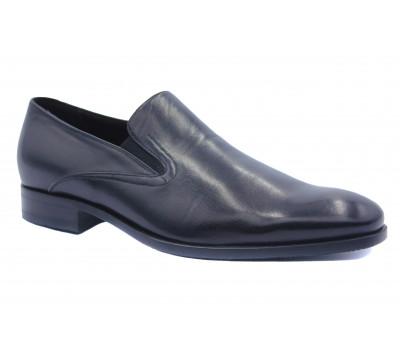 Демисезонные туфли ROMIT кожаные черные 14946