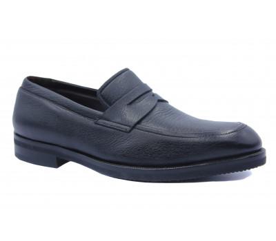 Демисезонные туфли ROMIT кожаные черные 16523