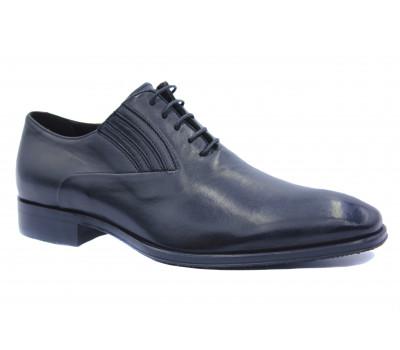 Демисезонные туфли ROMIT кожаные черные 11388