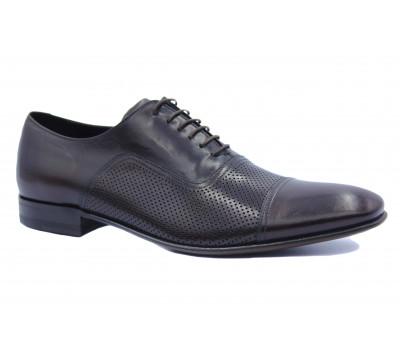 Туфли ROMIT кожаные бордовые 12811