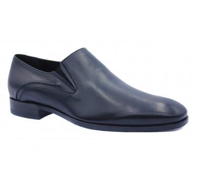 Демисезонные туфли ROMIT кожаные черные 14048