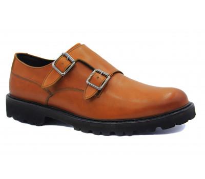 Туфли ROMIT HAND MADE кожаные рыжие 15940
