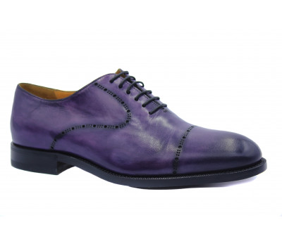 Туфли ROMIT HAND MADE кожаные фиолетовые 14759