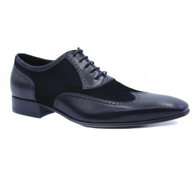 Туфли ROMIT кожаные черные 10898\1