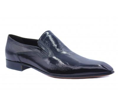 Туфли ROMIT из лакированной кожи черные 10448