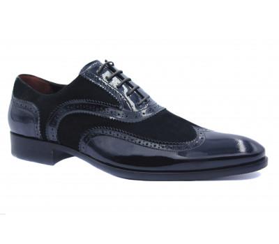 Туфли ROMIT кожаные черные 10203