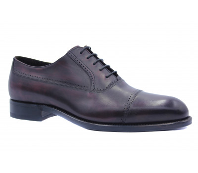 Туфли ROMIT HAND MADE кожаные бордовые 16505