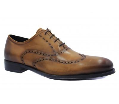 Туфли ROMIT HAND MADE кожаные рыжие 10832