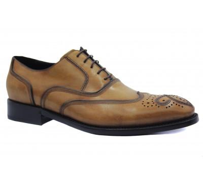 Туфли ROMIT HAND MADE кожаные рыжие 11224