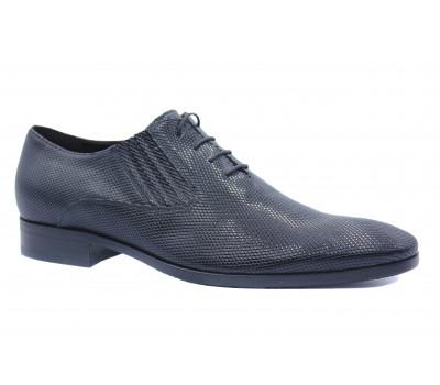 Демисезонные туфли ROMIT кожаные черные 13175
