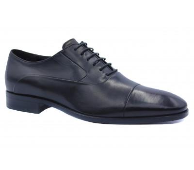 Демисезонные туфли ROMIT кожаные черные 15830/1