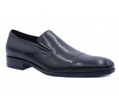 Демисезонные туфли ROMIT кожаные черные 15166