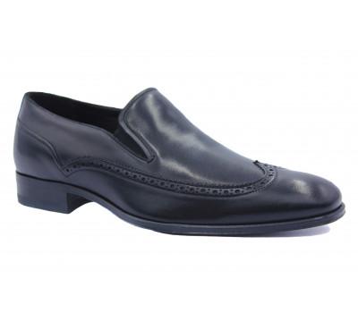 Туфли ROMIT кожаные черные 12837