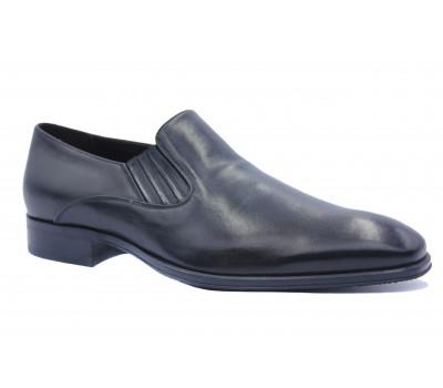 Демисезонные туфли ROMIT кожаные черные 13132