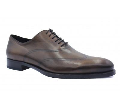 Демисезонные туфли ROMIT кожаные коричневые 10820