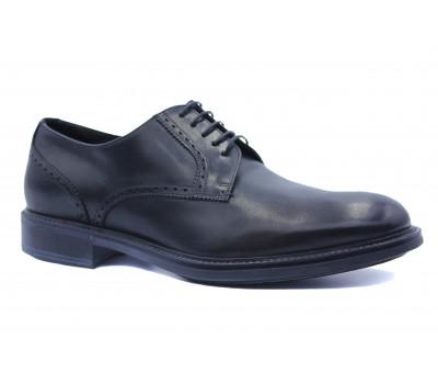 Зимние туфли ROMIT HAND MADE кожаные черные 12422