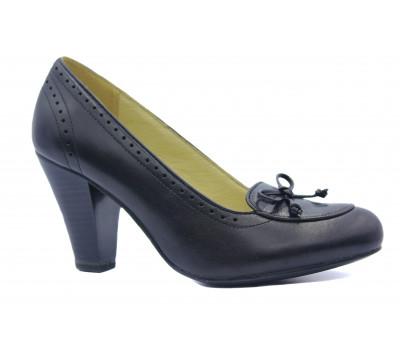 Туфли Caprice кожаные черные 22400-24