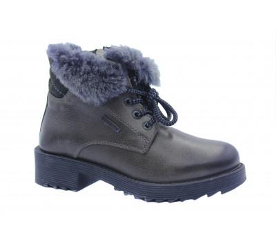 Зимние ботинки Dockers кожаные серые 770202