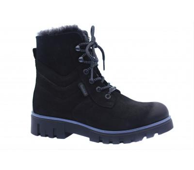 Зимние ботинки Dockers из нубука черные 770801