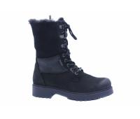 Зимние ботинки Dockers из нубука черные