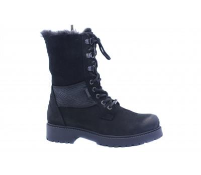 Зимние ботинки Dockers из нубука черные 770103