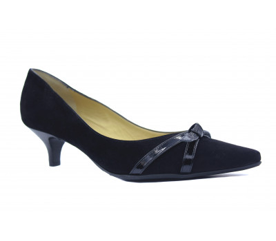 Модельные туфли Peter Kaiser замшевые черные 40655-735