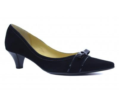 Модельные туфли Peter Kaiser замшевые черные 40843-554