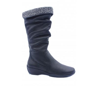 Сапоги зимние ARA на шерсти кожаные черные 44548-66