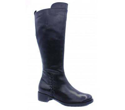 Сапоги осенние Hogl кожаные черные 2-102630