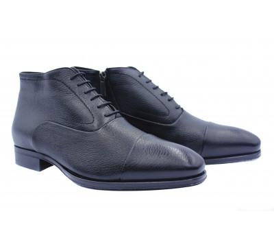 Зимние ботинки ROMIT кожаные черные 11961-1