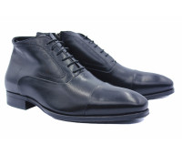 Зимние ботинки ROMIT кожаные черные