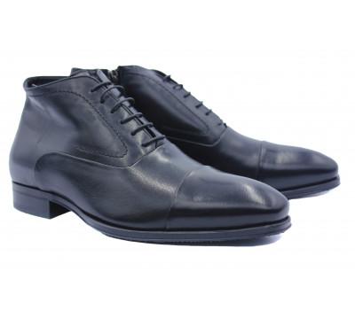 Зимние ботинки ROMIT кожаные черные 11961