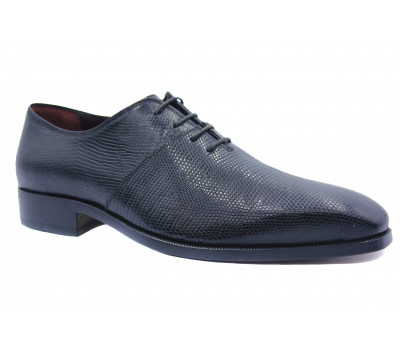 Туфли ROMIT HAND MADE из кожи варана черные 9475