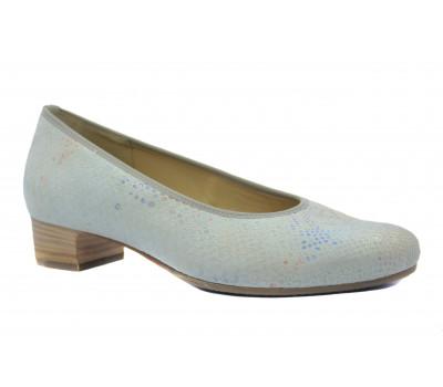 Туфли Наssia серо-голубые замшевые 3-302946