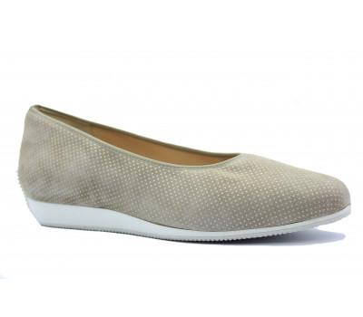 Туфли Hassia из крека бежевые 5-301406