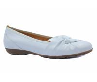 Балетки Gabor белые кожаные