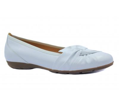 Балетки Gabor белые кожаные 24150.21