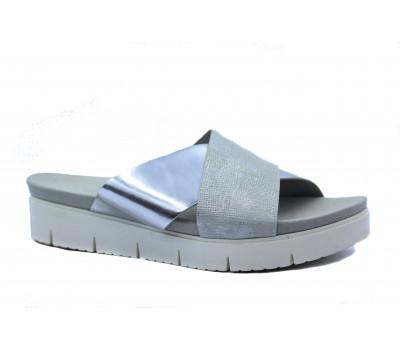 Сабо Gabor кожаные светло-серый с деталями цвета металлик 42700-31
