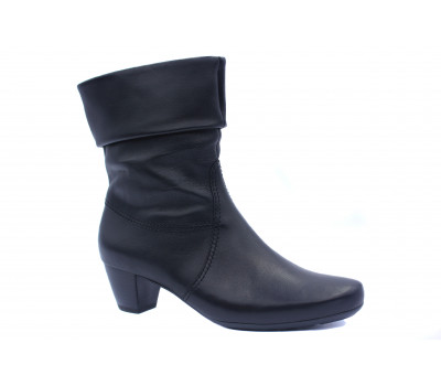 Полусапоги Gabor кожаные черные 92822