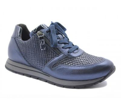 Кроссовки Gabor темно-синие кожаные 96369.35