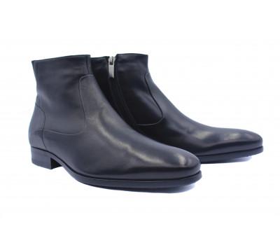 Зимние сапоги ROMIT кожаные черные 12384