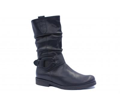 Демисезонные полусапоги Gabor кожаные черные 51521