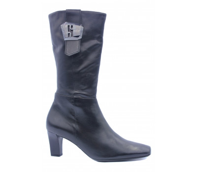 Демисезонные полусапоги Hogl кожаные черные 8-106120