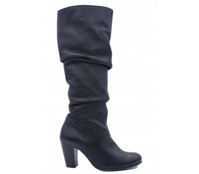 Демисезонные сапоги Hogl кожаные черные 8-107660