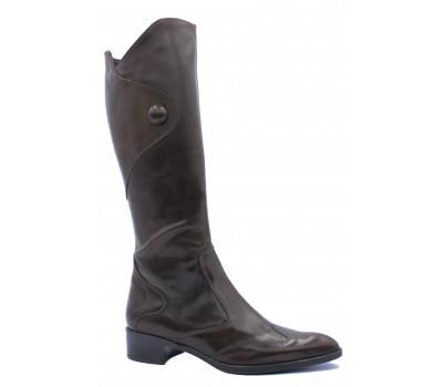 Демисезонные сапоги  TREMP  кожаные темно-коричневые 2350
