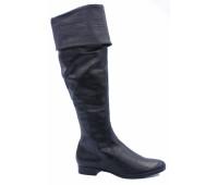 Демисезонные ботфорты  Hogl кожаные черные